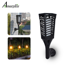 96 LED Solar Torches Light Dancing Flame Lighting Outdoor Waterproof Garden Dusk to Dawn Flickering Wall Dawn Lights(China)