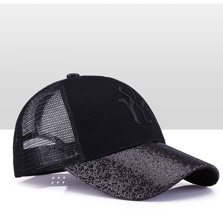 [Rancyword] 17 New Branded Baseball Caps Canada Women's Cap With Mesh Bone Hip Hop Lady Embroidery Hats Sequins RC1134 11