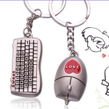 Hot Sell Lovers Keychain Buckle Gifts Couples Key Chain Ring Keyboard/Mouse Love Gift for Valentines day