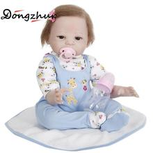 Dongzhur Reborn Silicone Babies For Sale 50cm Npkdoll Suede Cloth Body Solid Silicone Reborn Babies Doll Nanny Training Model(China)