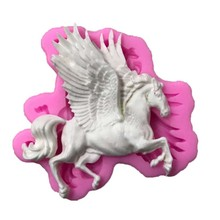 Pegasus Carousel Horse Candle Chocolate Candy Silicone Mold Cake Decorating moule Silicone 3D Decor Kitchen Confeitaria Tools(China)