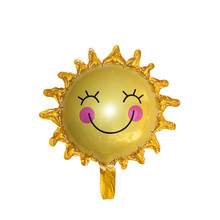 New 60*60cm Cute Smile Face Sunflower Balloon Baby Shower Foil Golden Balloon Party/Birthday/Wedding Decoration High Quality