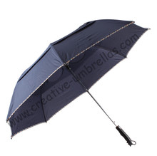 Professional making umbrellas,two fold golf umbrellas.hex-angular 50T steel shaft,auto open,manual close,double layer,windproof