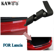 KAWOO For Lancia Delta Musa Rubber Rear Guard Bumper Protect Trim Cover Sill Mat Pad Car Styling Accessories