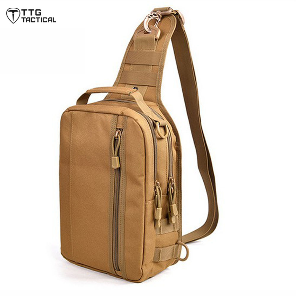 Camouflage MOLLE Cross Body  Assault Bag Durable Waterproof Military Messenger Pack Quality Travel Combat Bag<br><br>Aliexpress