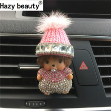 Hazy beauty  accessories for the new perfume ornaments Kiki car perfume mink wool hat in the car Car-styling Car Air Freshener