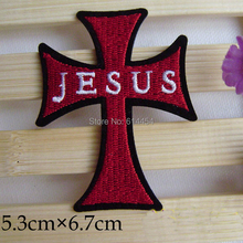 Embroidery Polyester Patches CROSS JESUS A5