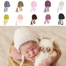 Baby Photography Props Handcraft Baby hand Knit Bonnet Newborn Baby Girls Boys Crochet Knit Costume Photography Prop Outfits Hat