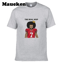 The Real MVP Colin Kaepernick #7 Men T-shirt Clothes T Shirt Men's for fans gift o-neck tee W0328001(China)
