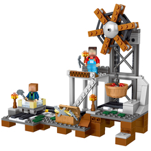 261pcs MY WORLD Minecrafted Model building Blocks Mine equipment Compatible With Legoe Kids Bricks mini Action figures Toys 15(China)