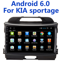 1024*600 Android 6.0 car dvd for KIA sportage 2009-2016 car pc head unit gps navigation 2din car stereo(China)