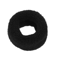 "2.4"" Width Solid Black Elastic Ponytail Holder Hair Tie Band 2 Pcs(China)"