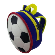 2017 Cute 3D Football Shape Kawaii Ball Design Printing Outdoor Travel Backpack for Children School Bag Backpack