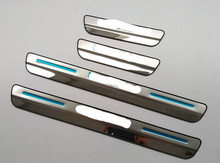 4pcs Door Sill Strip Scuff Plate For Lexus NX 200 NX200T 300H 2015 Car Styling Welcome Pedal Side Trim Car Stickers Accessories(China)