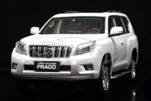 Diecast Car Model Toyota Land Cruiser Prado Without Decal 1:18 (White) + SMALL GIFT!!!!!