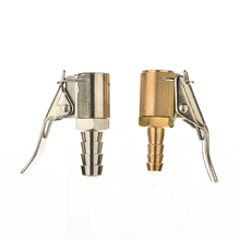 1PC 6mm Auto Car Truck Tire Inflator Valve Connector High Quality Brass Tire Valve Air Pump Chuck Clip Clamp