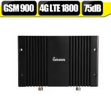 Lintratek  GSM 900mhz DCS 1800mhz Dual Band Cellphone Repeater 75dB Gain Booster 4G LTE 1800mhz  Amplifier Repetidor De Sinal