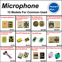12 Models 24PCS Microphone Inner Mic With Gift Screws For Most Cellphone Universal Common Used(China)