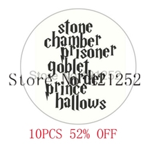 HP stone chamber prisoner goblet order prince hallows Glass Photo Cabochon Necklace keyring bookmark cufflink earring