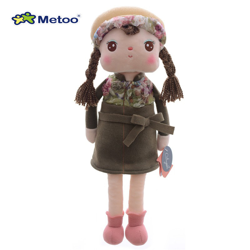 Official METOO Angela Plush Toys Girl  Wearing Animal Pattern Skirt  for Girls Collectible Gifts Dolls Toy 16  for Kids<br><br>Aliexpress