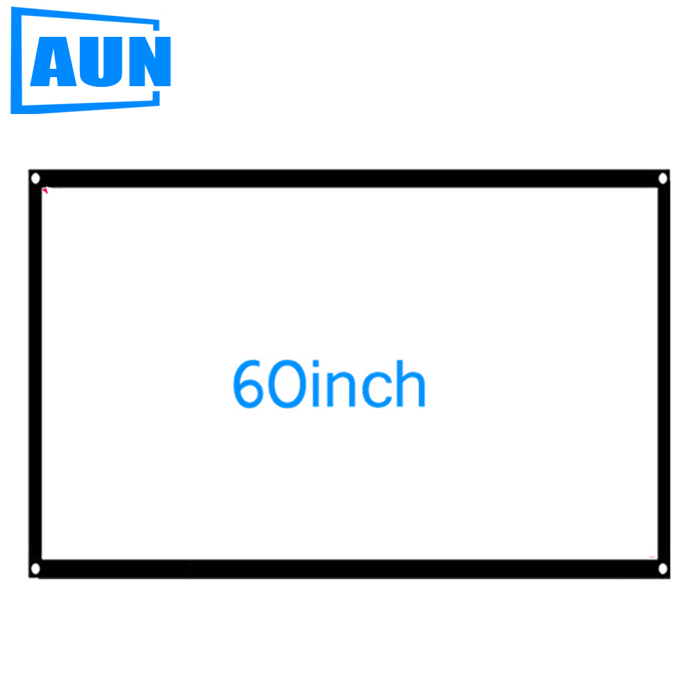 AUN 60 inch 16:9 Portable Projector Screen Plastic Screen for Home theater Travel support LED Projector DLP proyector S60(China (Mainland))