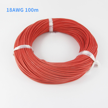 100m 18AWG  Heatproof 200 degree Soft Silicone Wire Cable For RC Airplane Model Battery Motor Part (150/0.08, OD: 2.3)