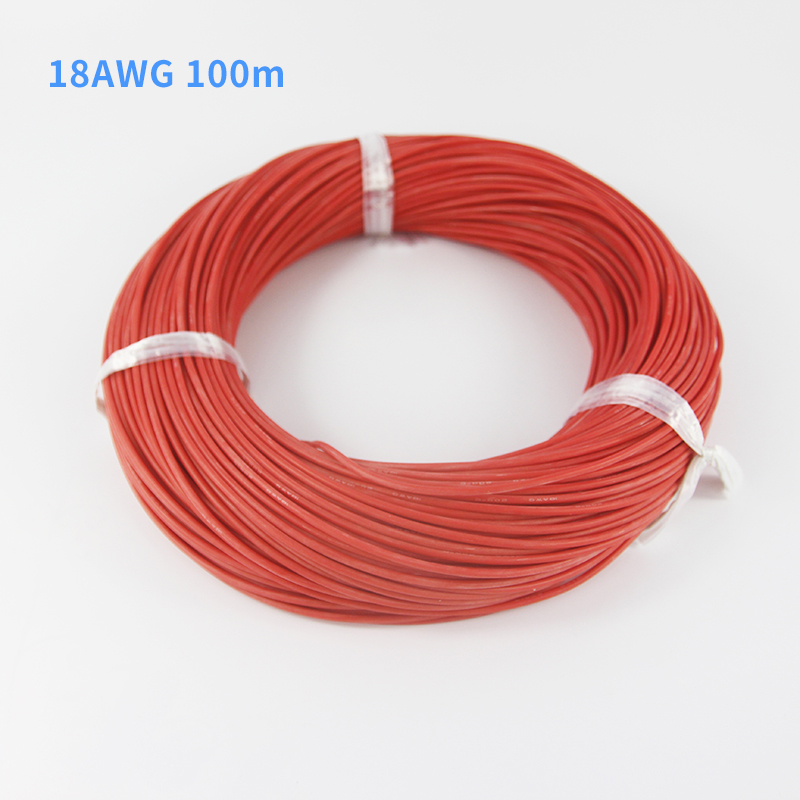100m 18AWG Heatproof 200 degree Soft Silicone Wire Cable For RC Airplane Model Battery Motor Part (150/0.08, OD: 2.3)(China (Mainland))