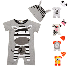 Buy Baby Rompers 2017 Summer Baby Girl Clothing Sets Cartoon Baby Boys Clothes Newborn Baby Clothes Roupas Bebe Infant Jumpsuit for $5.31 in AliExpress store