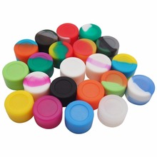 Best Selling 3ml Round Shape Silicone Wax Jars Dab Container Storage Weed Jar For Wax Vaporizer-Assorted Color(China)