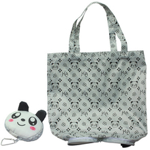 Hasp Cartoon Anime Folding Shopping Tote Reusable Eco Bag Panda Frog Pig Bear waterproof shopping bag Grocery Handbags(China)