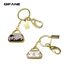 QIFANE 32GB 64G Creative Handbag shape U Disk pen drive 4G 8G 16G Metal crystal USB Flash Drive gift Jewellery memory stick
