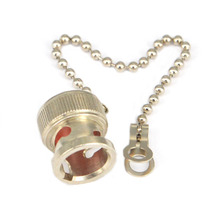 Nickelplated RF Coax Connector Dust cap with chain for BNC female jack
