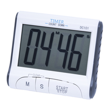 Buy LCD Kitchen Digital Timer Count Countdown Clock Alarm Clock, White for $5.11 in AliExpress store