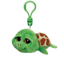 "Ty Beanie Boos Zippy the Turtle Clip 3"" Keychain Plush Stuffed Animal Collectible Doll Toy"