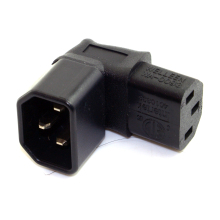 IEC Male C14 to Up Direction Right Angled 90 Degree IEC Female C13 Power Extension Adapter