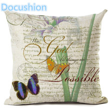 New Arrive Retro Flowers And Butterflies Cushion Cover  Decorative Sofa Throw Pillow Car Chair Home Decor Pillow Case almofadas