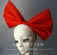 2017 hair accessories Super big bowknot headband make up party Halloween cosplay accessory Free Shipping