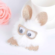 Pendant Hairball Pendant PU owl Imitation fox fur Key ring Hair ball hanging(China)