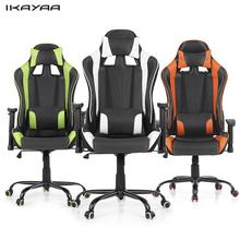 iKayaa Ergonomic Racing Style Gaming Office Chair Swivel Executive Computer Chair Bucket Seat For Home US Stock