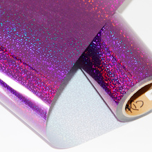 50cm100cm Glitter Holographic Iron-on Heat Transfer Vinyl Press Film For Plotter T-shirts