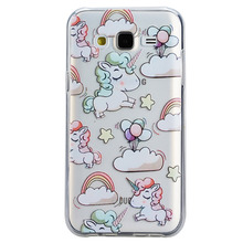 S5 S6 S7 Edge Cell Phone Cases for Samsung Galaxy A3 A5 J1 J3 J5 J7 2016 2015 new arrival cute Unicorn soft silicone cover