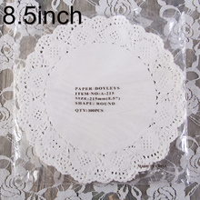 "Creative Craft 8.5"" Inch Round White Paper Lace Doilies Cake Placemat Party Wedding Gift Decoration 100pcs/pack(China)"