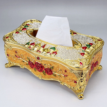 2016 New style europe high quality tissue box creative napkin box tissue home office car paper box Alloy materials freeshipping