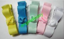 50 pcs  security fully lined alligator clip HAIR CLIPPIES BEAUTIFULL Hair Clips bows christmas Ribbon mini bows FJ3236