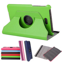 "360 Rotating Folio Stand Leather Case Skin Shell Cover For Dell Venue 8 3840 V8-BK3840D T02D 8"" inch Tablet PC"