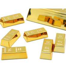 1pc Gold Brick Shape Refrigerator Magnets Resin Craft Gift For Home Refrigerator Decoration Souvenir Birthday Gift S15(China)