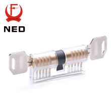 2016 Hot Sale NED Cutaway Transparent Copper Lock Training Skill Professional Visable Practice Padlocks Lock Pick For Locksmith