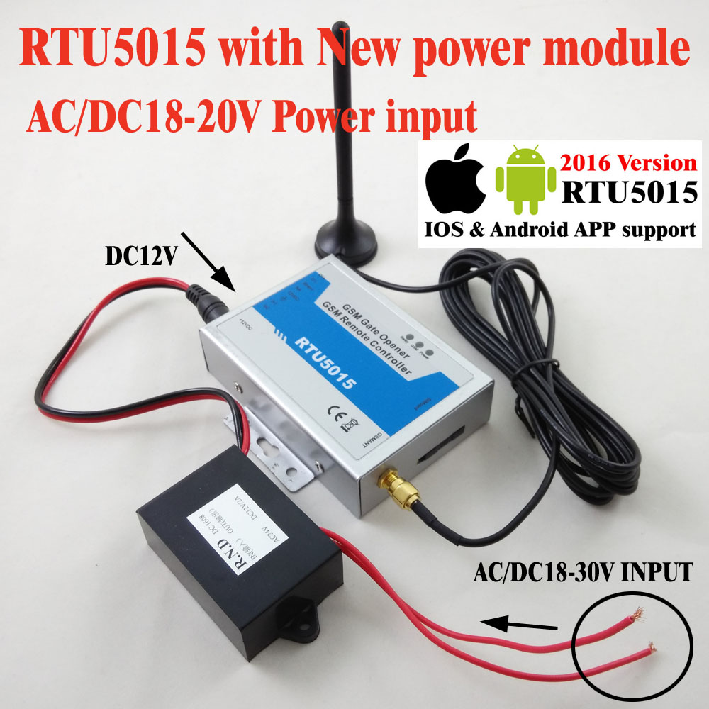 Free shipping RTU5015 Automatic GSM Gate Opener Switch Remote Access Control Roller Gate Opener 1Output,2 Inputs App support<br>