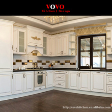 2016 new design traditional solid wood kitchen cabinets white color(China)
