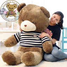 60cm High Quality Plush Soft Toys & Hobbies Stuffed Animals Plush Teddy Bear  With Cloth For Girl's Gift